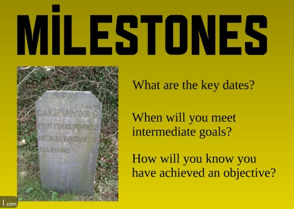 Milestones are essential for any good project plan