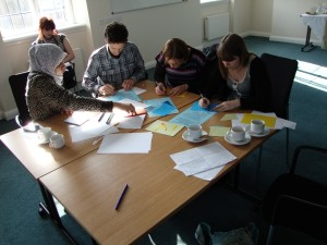 Participants try to complete creative tasks